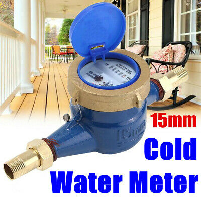 34 15mm Garden Home Brass Flow Measure Tape Cold Water Meter Counter Tools Us