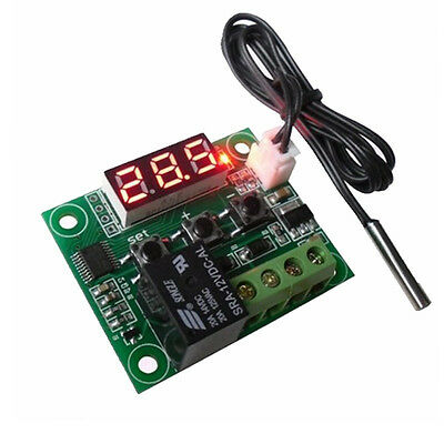 DC 12V Temperaturregelung Thermostat Schalter Regler ThermometerW1209 mit LED