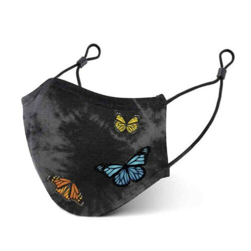Primitive Skateboards Butterfly Gray Cotton Smart Antibacterial Face Mask