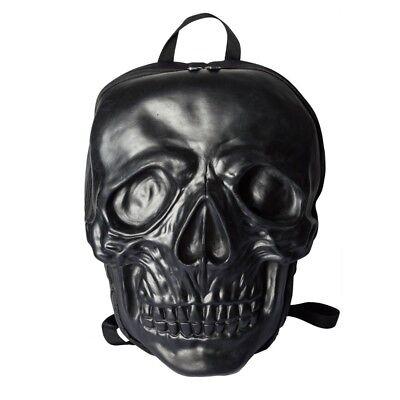 Black Giant Skull Backpack Kreepsville Goth Style Natural Latex Bag Halloween - Giant Skull Halloween