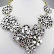 Rhinestone Crystal Bib Necklace