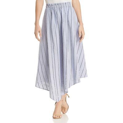 Donna Karan Womens Sea Glass Striped Mid-Calf Asymmetrical Skirt BHFO (India Summer Glasses)
