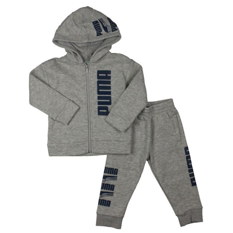 Puma Boys Gray Toddler Sportswear Play Sweatsuit Athletic 2T BHFO 2125