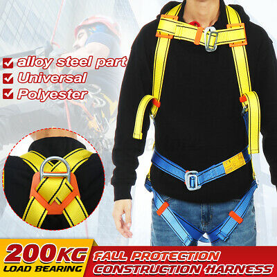 Fall Protection Construction Harness Full Body Type Universal Safety Belt 200kg