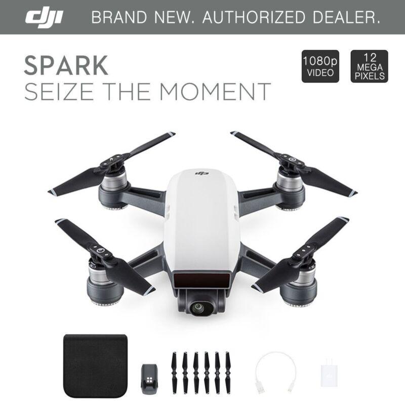 DJI Spark Alpine White Quadcopter Drone + 1 Extra Battery