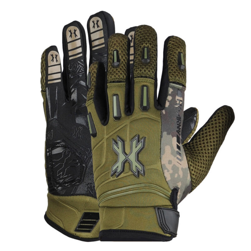 HK Army Pro Gloves - Full Finger - Olive Camo Size: Small