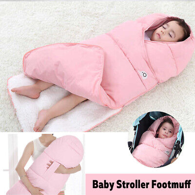 Baby Stroller Footmuff Blanket Swaddle Sleeping Bag Pushchair Pram Seat Cushion