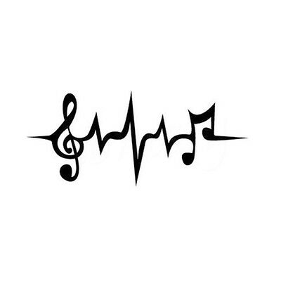 Fashion Heartbeat Wall Decal Music Notation Painted Car Laptop Art Decor sticker