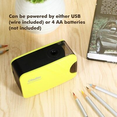 Desktop Electric Pencil Sharpener Automatic Battery-powered Usb-powered For Kids