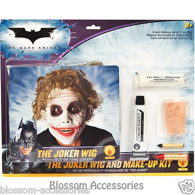 rk Knight The Joker Wig and Halloween Make Up Kit (Adult) (Joker Halloween-make-up)