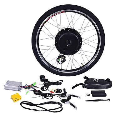 "26"" 48V 1000W Front Wheel Electric Bicycle Motor Kit E-Bike Conversion Powerful"