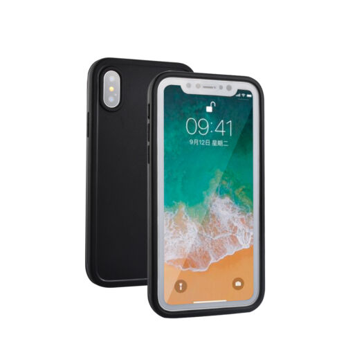 iPhone XS MAX XR 360° Waterproof Dustproof Hybrid Rubber Shockproof Case Cover