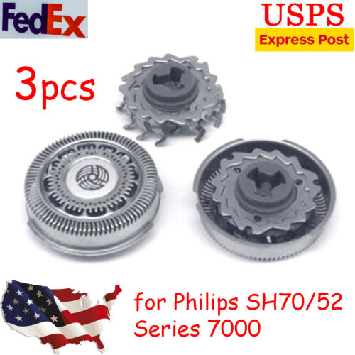 3pcs Replacement Shaver Heads Razor for Philips Norelco Seri