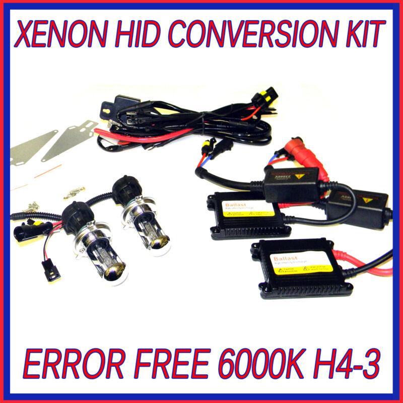 LEXUS LS H4-3 HID CONVERSION KIT XENON HEADLIGHT BULBS 6000K CANBUS ERROR FREE