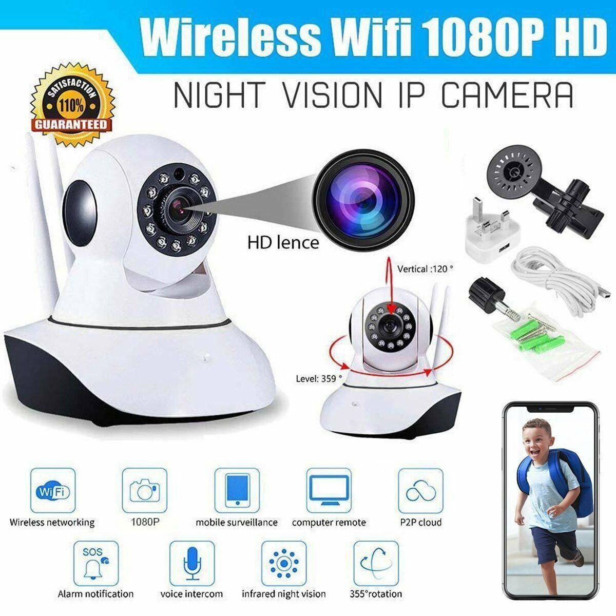 Wireless WIFI HD 1080P Pan Tilt Security IP Camera LED Night Vision Home Webcam