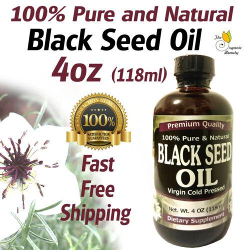 4oz 100% Pure & Natural Black Seed Oil Cold Pressed Cumin Nigella Sativa Non-GMO