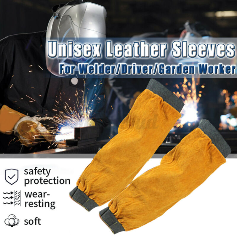 Gardening Welder Sleeves Protector Men Women Thorn Proof Leather Protection USA