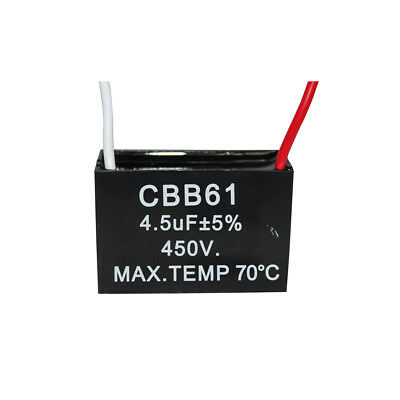 450v 4.5uf Cbb61 Ceiling Fan Motor Running Capacitor 2 Wire 5060 Hz
