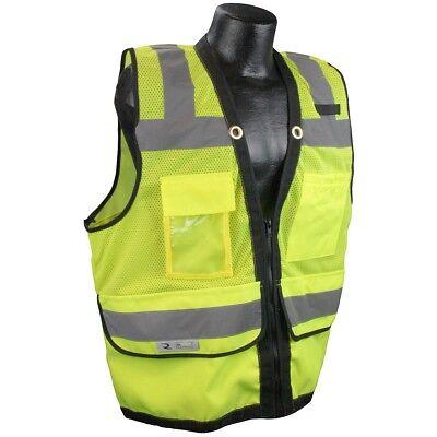 Radians Class 2 Heavy Duty Surveyor Safety Vest With Pockets Yellowlime
