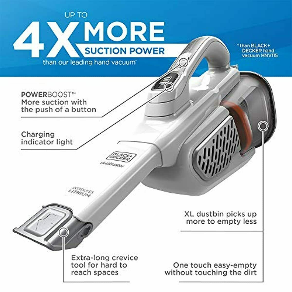 BLACK+DECKER dustbuster Handheld Vacuum, Cordless, AdvancedC