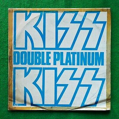 Big Chance! Kiss - Double Platinum 2 LPs, unique korea vinyl lp Blue Cover VG-