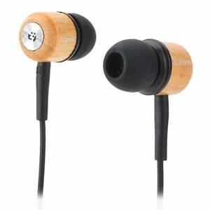 In-ear Wooden Earphone Headphone Earbuds Headset *FREE SHIPPING* Nunawading Whitehorse Area Preview