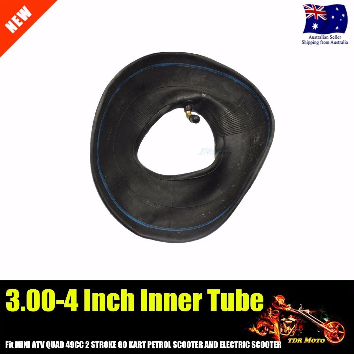 4.10//3.50-4 Tire Inner Tube For Gas /& Electric Scooter Bike