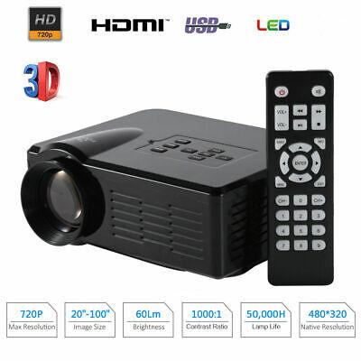 1080P Full HD Mini LED Projector USB TV HDMI 3D Home Theater Portable LCD LED