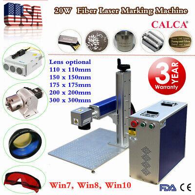 20w Raycus Fiber Laser Marking Machine Metal Engraving Engraver Ezcad2 Cefda