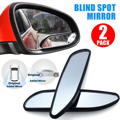 Rear Side Glass - Universal 2 Auto 360° Wide Angle Convex Rear Side View Blind Spot Mirror for Car