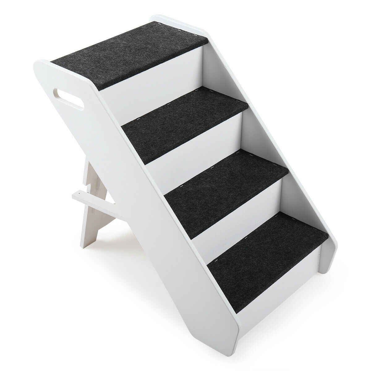 Portable Dog Steps 4 Steps for High Bed Pet Stairs Small Dog
