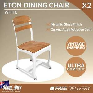Free Delivery: 2 x Replica Eton Dining Chairs Vintage Warehouse Moorebank Liverpool Area Preview