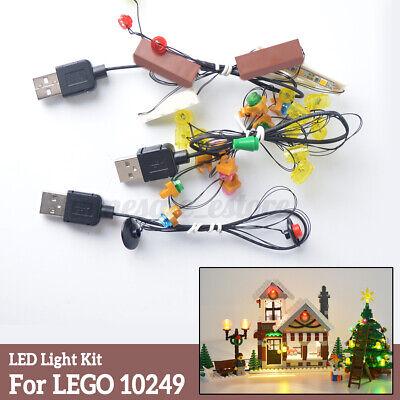 LED Light String DIY Kit For Lego 10249 Winter Blocks Village Xmas Toy Shop Set