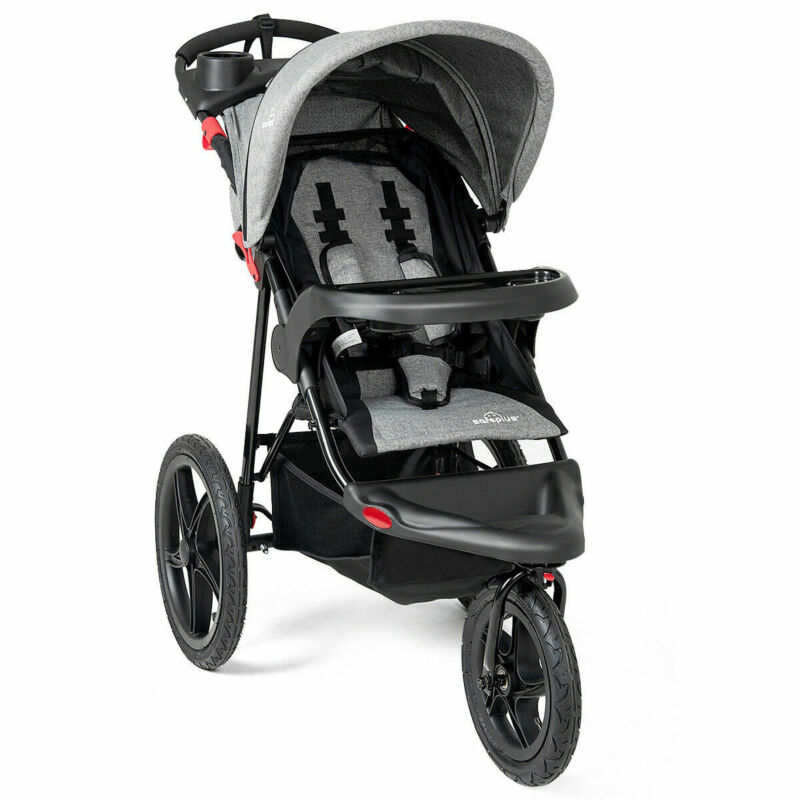 Foldable Baby Stroller  Lightweight Infant Push Cart Jogger Canopy Cup Holder