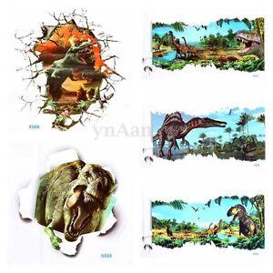 3d fissure jurassic park dinosaure mural sticker - Deco chambre dinosaure ...