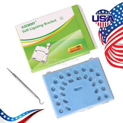 Usps Dental Orthodontic Self-ligating Metal Brackets Mini Roth 0.022 3-4-5 Hooks