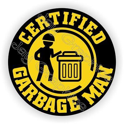 Hard Hat Sticker Funny Garbage Man Helmet Decal Stickers Truck Driver Trash