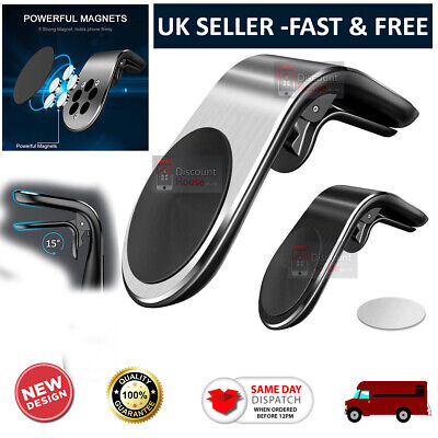 Magnetic Overfly car Phone Holder L Shape Air Vent Mount Stand in Car Magnet