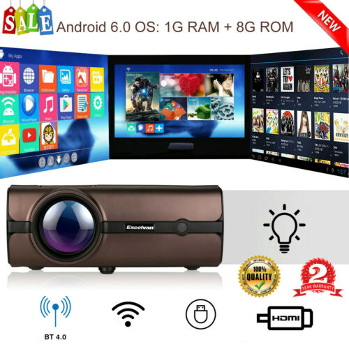 BL46 Multimedia LCD Projector Home Cinema 1GB+8GB BT 4.0 And