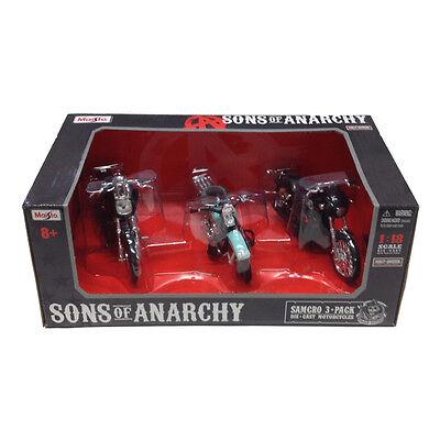 Sons of Anarchy 1:18 Scale Die-Cast Motorcycle Vehicle Set w/ John Teller 32184