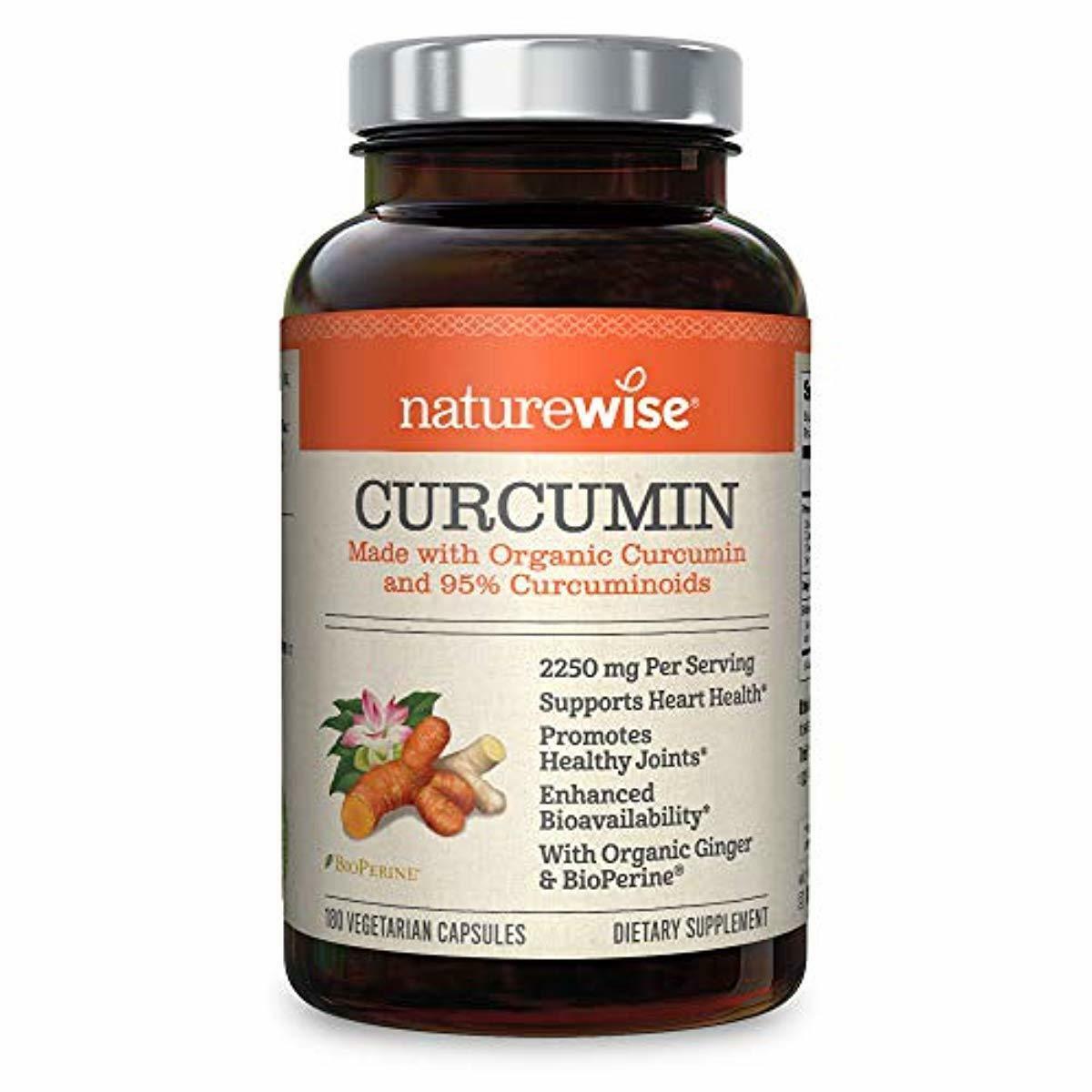 NatureWise Curcumin Turmeric 2250mg | 95% Curcuminoids & Bio