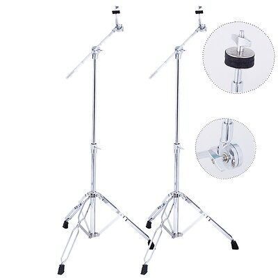 2 Pack Cymbal Boom Stand Drum Hardware Percussion Double Braced Tripod Holder on Rummage