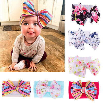 USA Kid Girls Baby Toddler Bow Headband Hair Band Accessories Headwear Head Wrap (Baby Toddler Accessory)