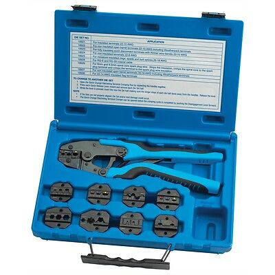 Tool Aid Quick Change Master Ratcheting Terminal Crimper Kit With 9 Dies 18980 -
