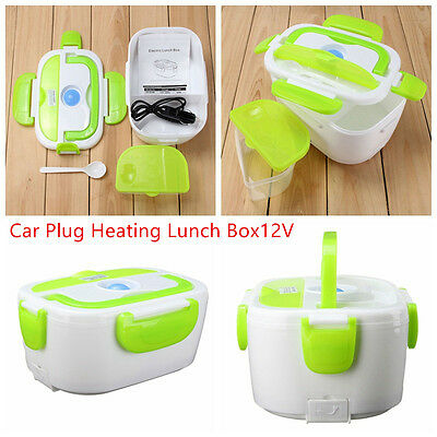 Car Plug Heating Lunch Box Outdoor Picnic Food Warmer Container Portable 1.05L