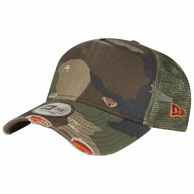 New Era Adjustable Trucker Cap - DISTRESSED wood camo