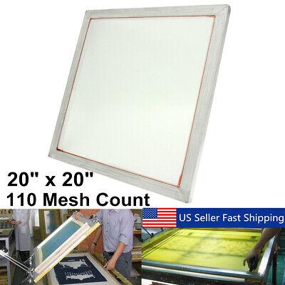 20x20 Aluminum Silk Screen Printing Press Screens Frame 110 White Mesh B