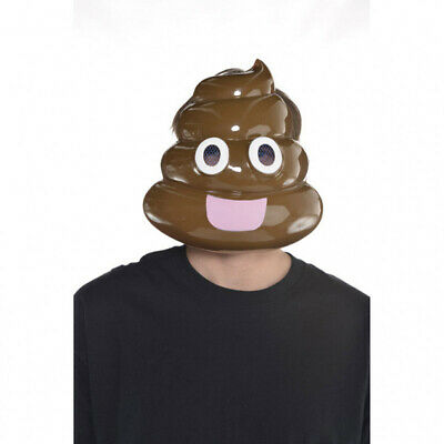 Poophead Mask Poop Emoji Adult Costume Face Poo Doody Crap Emoticon Halloween