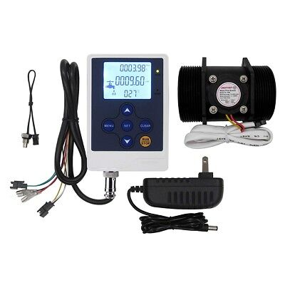 Digiten Water Flow Control Lcd Displayg2 Flow Sensor Meterdc 12v Power