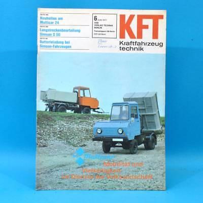 DDR KfT Kraftfahrzeugtechnik 6 1977 Simson S 50 B Multicar 24 Audi 80 Citroen 19